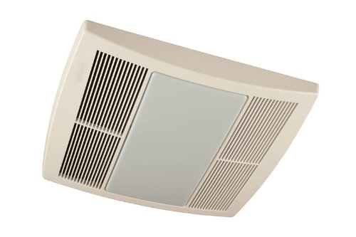Broan QTRE080FLFT 80 CFM 42 Watt Fluorescent Light Ultra Silent Bathroom Fan/Light, White Grille (Finished Pack)