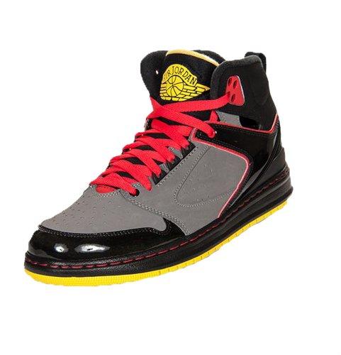 e2c57c10d14 Jordan Nike Men s Sixty Club Basketball Shoes Black Gray Red Yellow ...