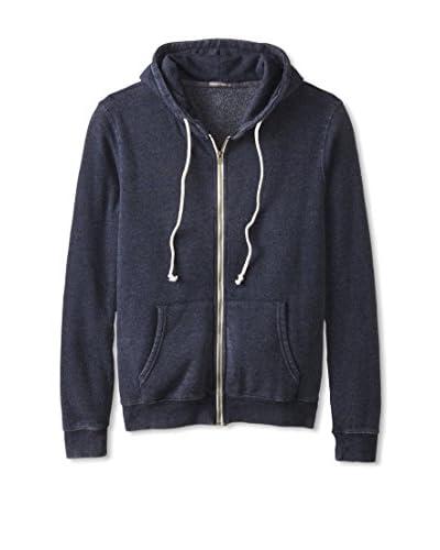 Threads 4 Thought Men's Zip Front Burnout Hooded Sweatshirt