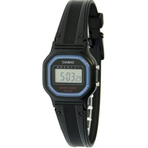 CASIO LA-11WB-1W - watch lady / boy rubber strap, black color