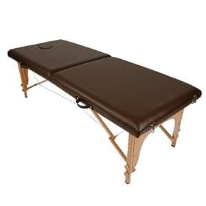 軽量折りたたみ木製マッサージベッド(施術台) チョコレート (エステ用品 整体)