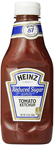 Heinz Tomato Ketchup, Reduced Sugar, Bottle, 13 oz