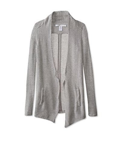 LOLA & SOPHIE Women's Sweater Blazer  [Silver]