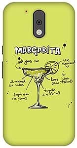 The Racoon Lean printed designer hard back mobile phone case cover for Motorola Moto G Plus 4th Gen. (Lime Marga)