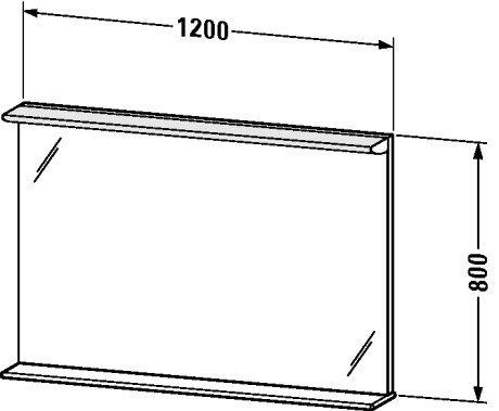 Darling New Mirror 1200 28 W with shelf 1200 x 170 x 800