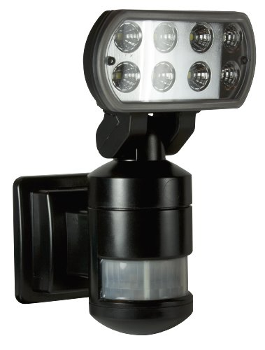 Nightwatcher NW500 LED Robotic Security Light, Black