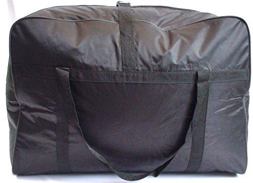 (PAQUET DE 2) 160 Litres Léger Noir Sac De Transport Cargo Sac Rangement (EXTRA LARGE)