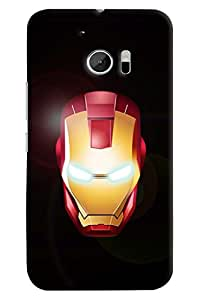 Omnam Ironman Face printed with eye effect for HTC 10
