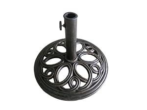 pied de parasol rond en fonte pour patio et jardin couleur bronze 12 kg jardin. Black Bedroom Furniture Sets. Home Design Ideas