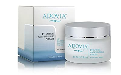 Adovia Anti Wrinkle Facial Moisturizer Cream - with Dead Sea Minerals, Collagen, Retinol and Lactic Acid - Premier Anti Aging Moisturizer - Reduces the Appearance of Existing Wrinkles & Fine Lines & Prevent the Formation of Wrinkles - Natural Skin Care So
