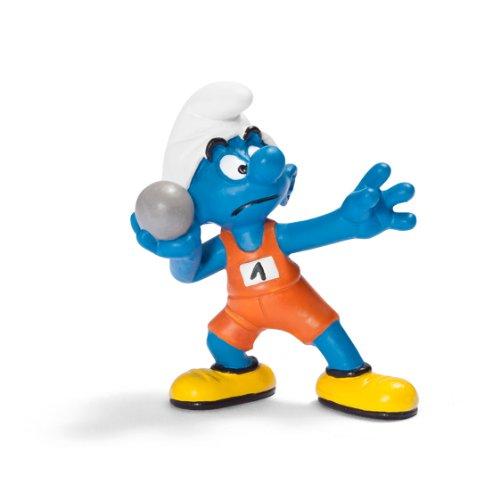 Schleich Shotputter Smurf Figure - 1