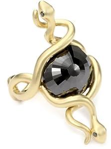 Borgioni Double Snake 9.04 ct. Black Diamond Center Stone Ring, Size 7