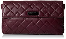 Marc by Marc Jacobs Crosby Quilt Leather Jemma Envelope Clutch, Cardamom, One Size