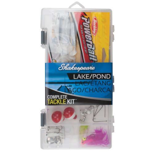 Shakespeare Catch More Fish Lake/Pond Box Kit with Tackle Management Tools and Equipment