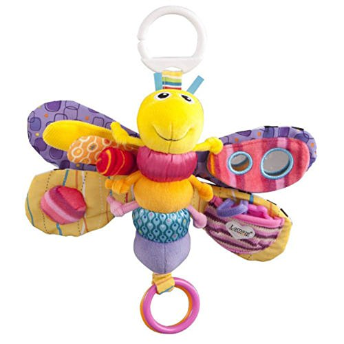 Lovely Kids 2014 Baby'S Soft Plush Toy Hang Toy Rattle Crinkle Bell Lamaze Colored Butterfly front-751375