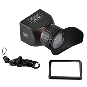 GGS Perfect Foldable LCD Viewfinder 3X Magnification for Canon, Nikon, Sony and Other DSLR Cameras by CowboyStudio (ggs3.0x LCDVF)