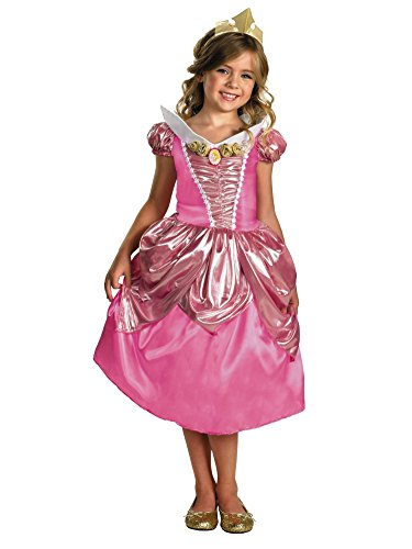 Disney Toddler & Little Girls Princess Aurora Costume with Pink Dress & Tiara