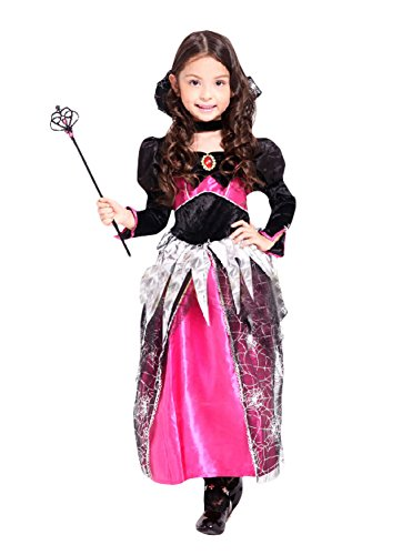 Ace Halloween Children's Kids Girls Spider Queen Witch Costumes