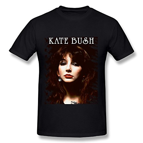 UTU Kate Bush Poster Mens Fashion T Shirt Black L (Kate Bush Shirt compare prices)
