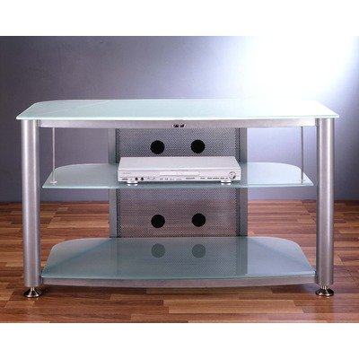 Cheap RGR Series 3-Shelf 43″ TV Stand Pole Color: Silver, Glass: Frosted (RGR-403SF)