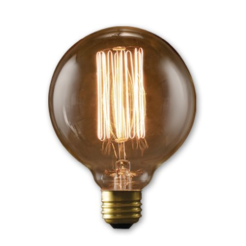 Bulbrite NOS40G30 40W Nostalgic G30 Edison Globe with Thread Filament Style – 2 Pack