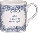Bloomsbury fine bone china mug Life is a journey