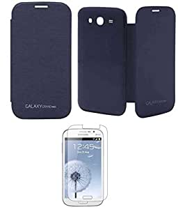 TBZ Premium Flip Cover Case -Pebble Blue for Samsung Galaxy Grand Neo with Screen Guard
