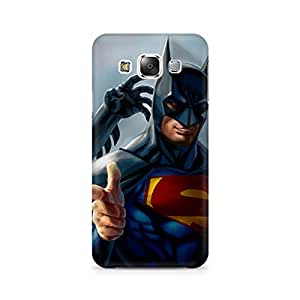 Motivatebox- Superman with Batman Mask Premium Printed Case For Samsung Grand 2 G7106 -Matte Polycarbonate 3D Hard case Mobile Cell Phone Protective BACK CASE COVER. Hard Shockproof Scratch-