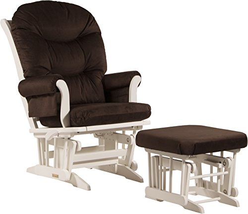 Dutailier Sleigh Glider-Multiposition, Recline and Ottoman Combo, Chocolate - 1