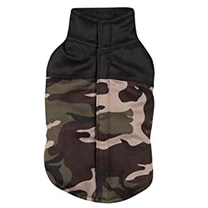 Casual Canine Polyester Camo Dog Vest, XX-Small, 8-Inch, Green