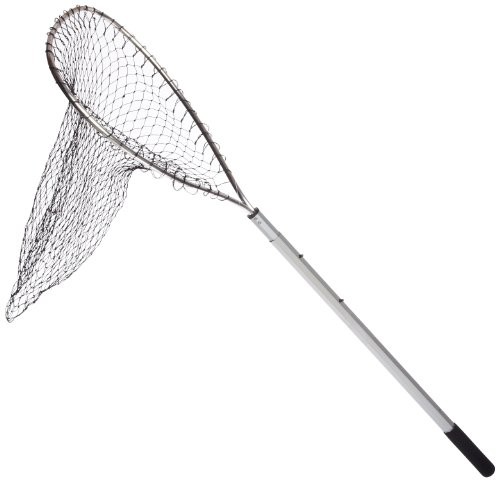 Ed Cumings Octagonal Handle Boat Net with Telescoping Handle (17-Inch x 21-Inch Bow x 26-Inch-46-Inch Telescoping Handle x 30-Inch Depth)