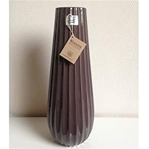 gilde selva deko keramik vase 45 cm blumenvase braun