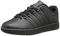 K-Swiss Classic Vintage PS Tennis Shoe (Little Kid),Black/Black,13.5 M US Little Kid