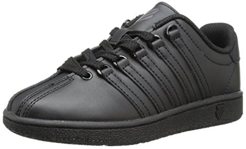 K-Swiss Classic Vintage PS Tennis Shoe (Little Kid),Black/Black,2.5 M US Little Kid