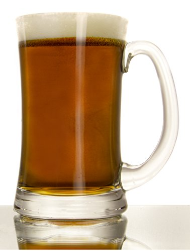 Italian Glassware Craft Beer Mugs, 1 Pint (16 Ounce) - Set of 6