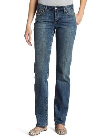 Levi's Women's Bold Curve ID Straight Leg Jean, Rocking Blue, 14 Long