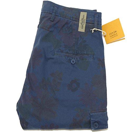 0395G pantaloni blu DANIELE ALESSANDRINI DENIM BLUE LABEL jeans uomo [30]