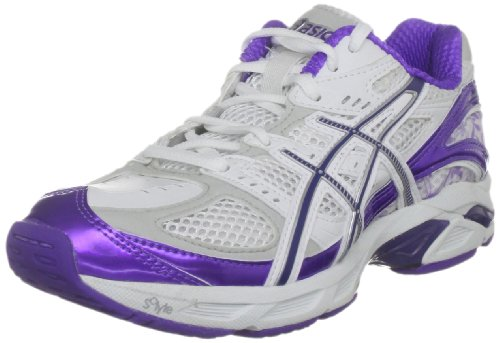 Asics Women's Gel Netburner Tasman 3 W White/Flag Navy/Spectra Violet Court Trainer R159N 0134 6.5 UK