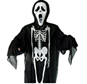 Toopbill Halloween Ghost Party Cosplay Dance Clothes (adult(160-170cm), A(skeleton))