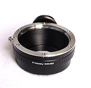 Fotasy NAEFT Pro Canon EOS Lens to Sony NEX E-Mount Mirrorless Camera Adapter with Tripod Mount