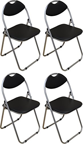 harbour-housewares-black-padded-folding-desk-chair-pack-of-4