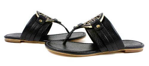8ef180d2859b You wish Tory Burch Amanda Flat Thong Leather Black Sandals with spend less  price  We already have special deals for Tory Burch Amanda Flat Thong  Leather ...