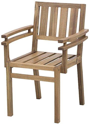 Siena Mybalconia 273789 Stuhl Seattle Akazienholz FSC® 100% geölt Beschläge aus galvanisiertem Stahl zu LoveBench Seattle günstig bestellen