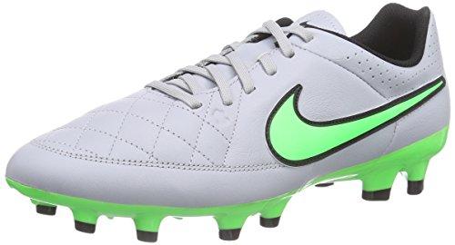Nike Tiempo Genio Leather Fg - Scarpe Running Uomo, Bianco (White/GreenWhite/Green), 43 EU
