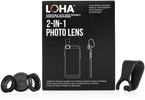 iPhone-Camera-Lens-Kit-with-Portable-Compact-Design-Professional-HD-Super-Macro-10x-Lense-and-Wide-Angle-067x-Compatible-for-Any-Smartphone-plus-bonus-Cell-Phone-Photography-Guide