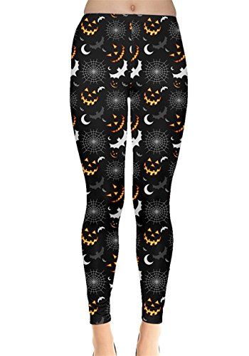 Womens Black Halloween Leggings