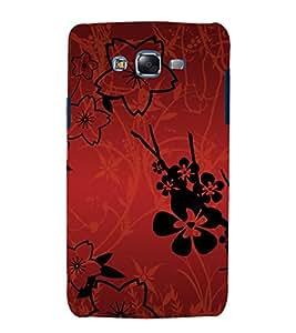 printtech Flower Abstract Pattern Back Case Cover for Samsung Galaxy E7 / Samsung Galaxy E7 E700F