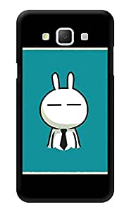 """Humor Gang Cartoon Cat With Tie Printed Designer Mobile Back Cover For """"Samsung Galaxy j5"""" (3D, Glossy, Premium Quality Snap On Case)"""