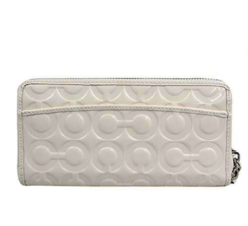 Coach   Coach Peyton Op Art Embossed Patent Go-go Wallet F49962