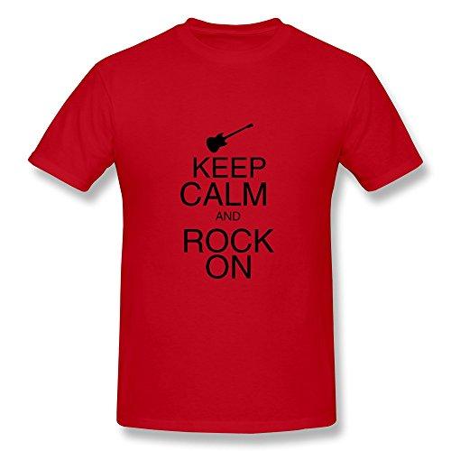 Cpy Men'S Rock Music Rock Cotton T Shirt Tee Red Xxl